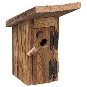 amish outhouse rustic bluebird nestbox